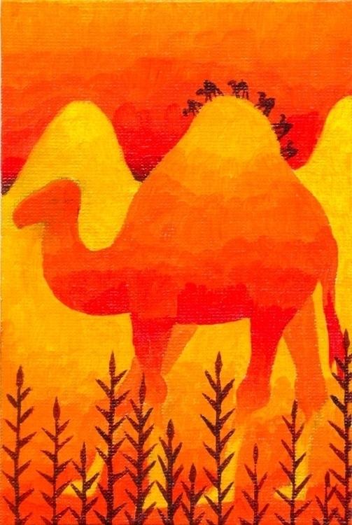 Camelcade - illustration, painting - olga_msk   ello