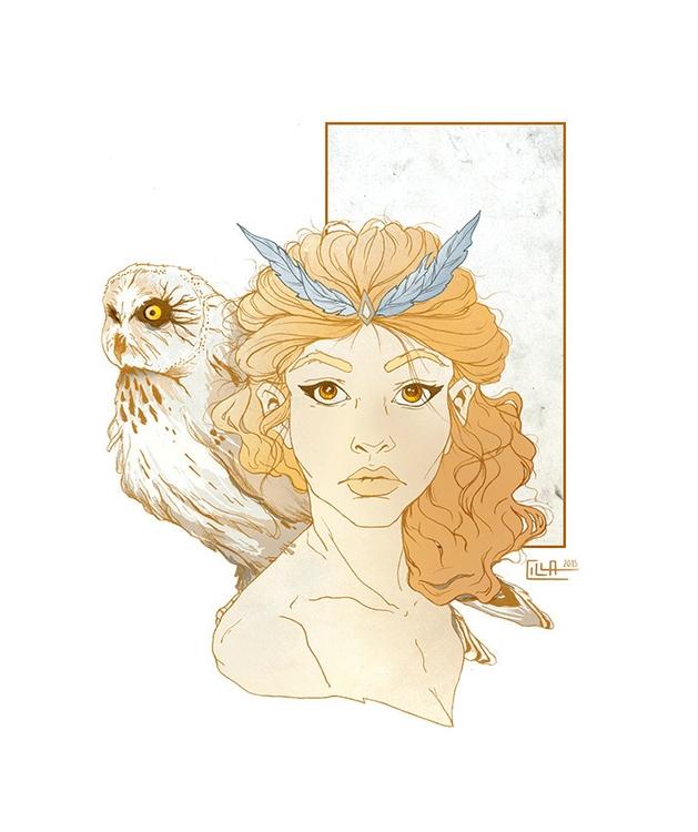 Owl - owl, portrait, feathers, zodiac - misscilla | ello