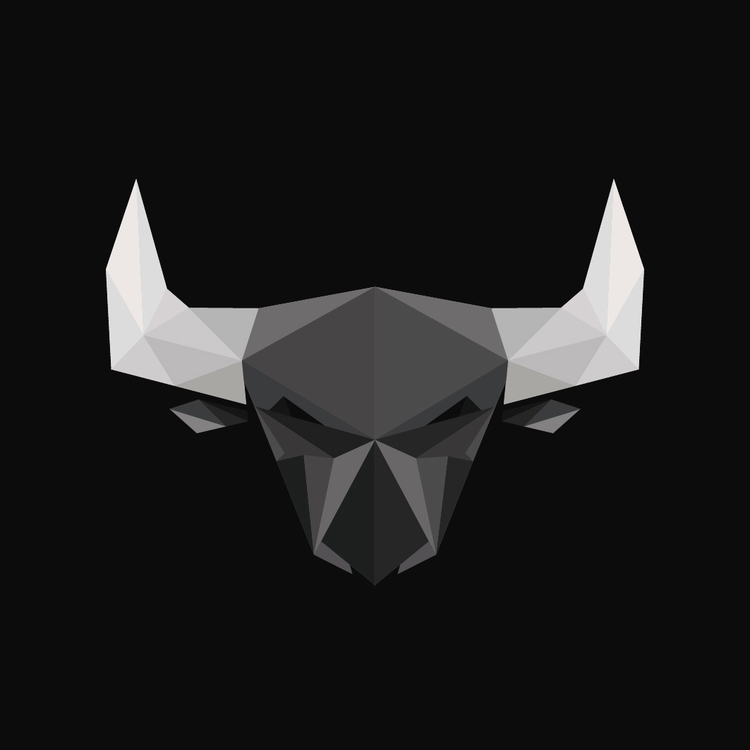 Geometric Bull Head - illustration - brod3rick | ello