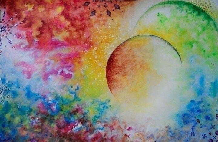 Cosmos - painting, watercolor, cosmos - andreapiccone | ello