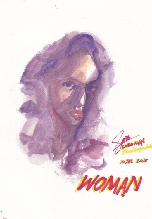 Strange kind woman - illustration - headbangindude | ello