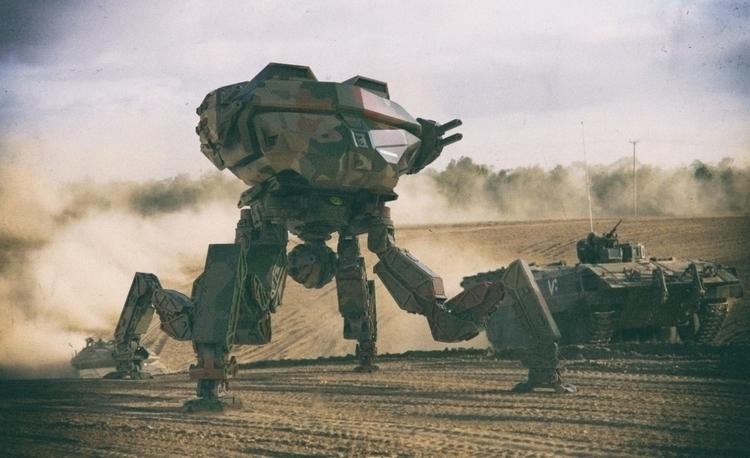 3d concept assault battle mech - aumakua   ello
