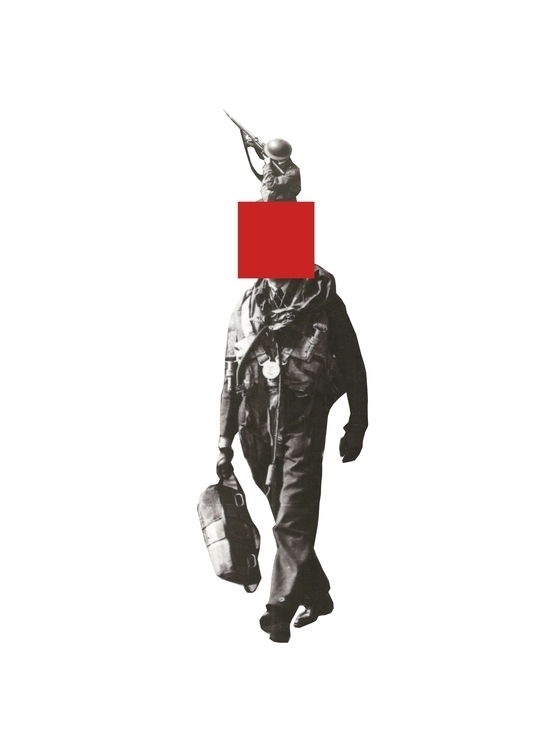 Red - collage, history, minimal - petermarchant | ello