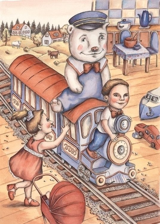 Teddy Ride - illustration, painting - gerdamartens | ello