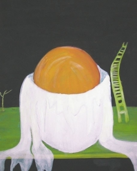 open egg - liquid, painting - chonluengo | ello