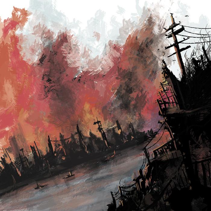 Burning - illustration, painting - k0ori | ello