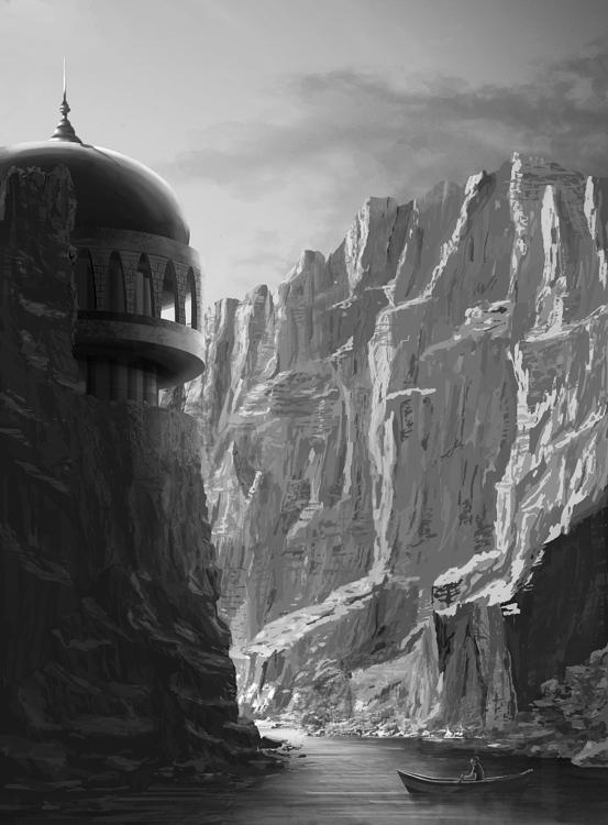 Canyon - illustration, painting - k0ori | ello