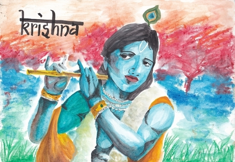 Khrisna - illustration, fineart - headbangindude | ello