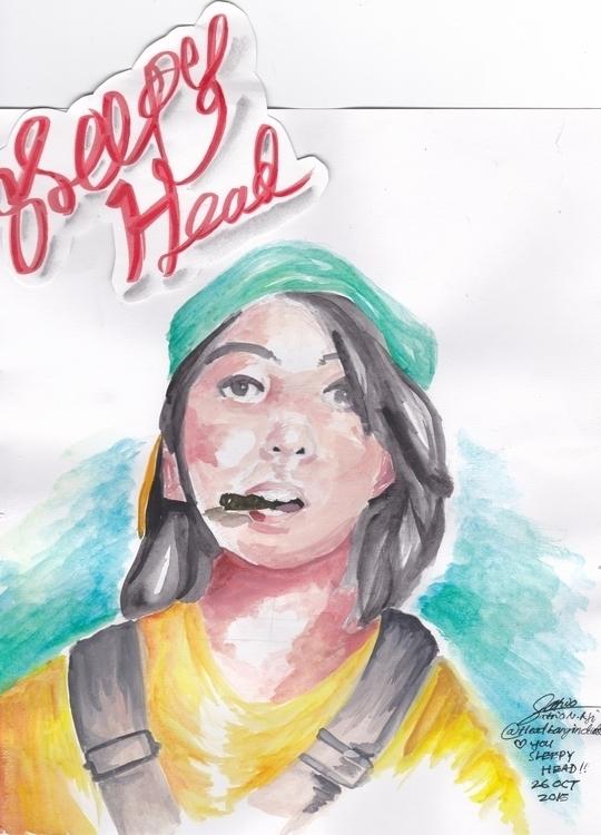 sleepyhead :3 - illustration, portrait - headbangindude | ello