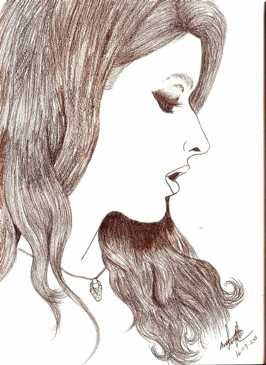 girls, realistic, woman, graphite - amandaloyolla | ello