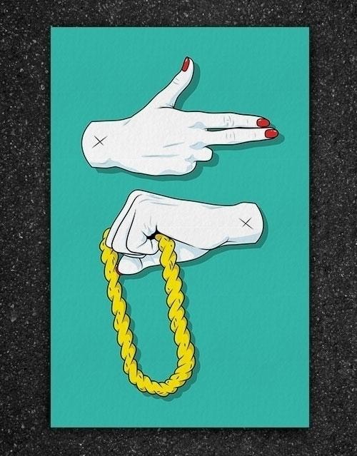 Run 80s tribute print Jewels. 1 - 6gun | ello