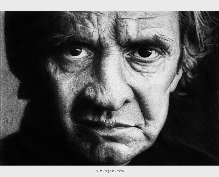 Hurt - Johnny Cash - illustration - mrojek | ello