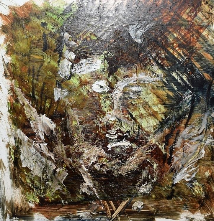 génie du bois coupé - painting, oilpainting - zuber-3671 | ello