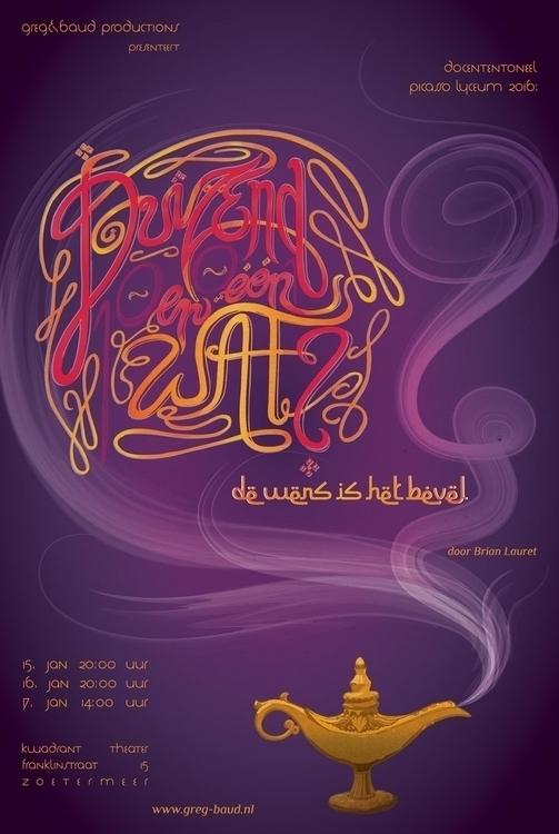 Duizend en één Wat? Poster - illustration - tiki-1251 | ello