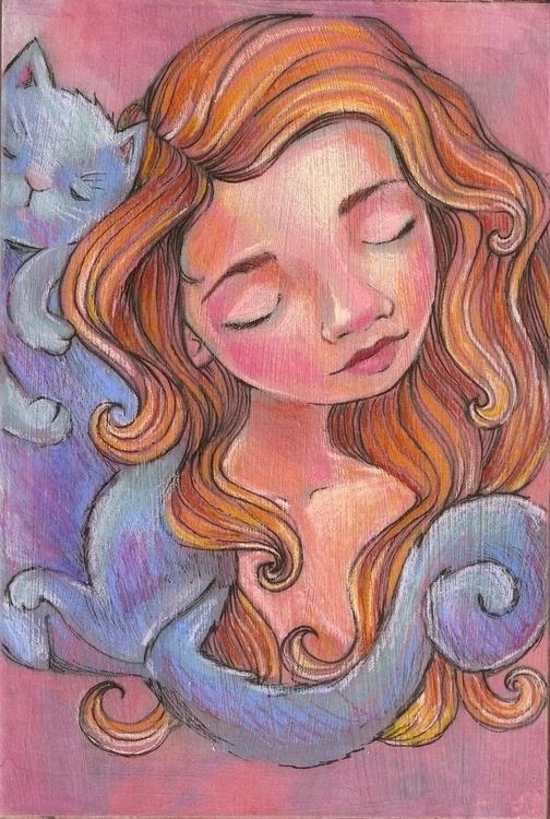Wall MacLure - coloredpencil, sleep - amaclure | ello