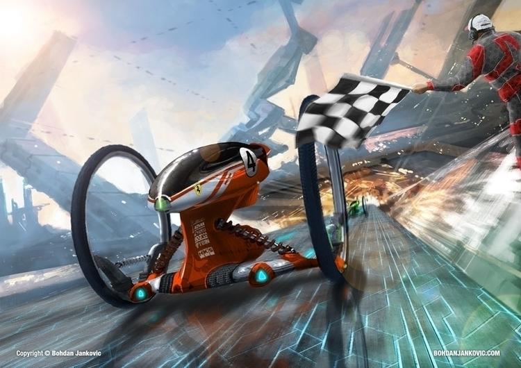 Gyro Racer - conceptart, environment - bohdanjankovic | ello