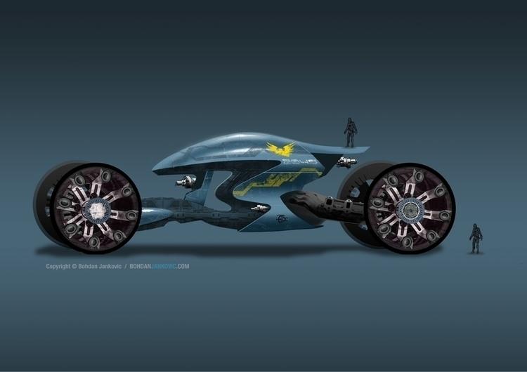 Futuristic Rover - conceptart, design - bohdanjankovic | ello
