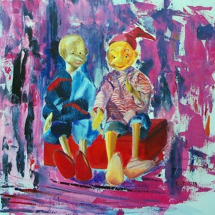 Brothers Pinocchio - painting, character - kasiaturajczyk | ello