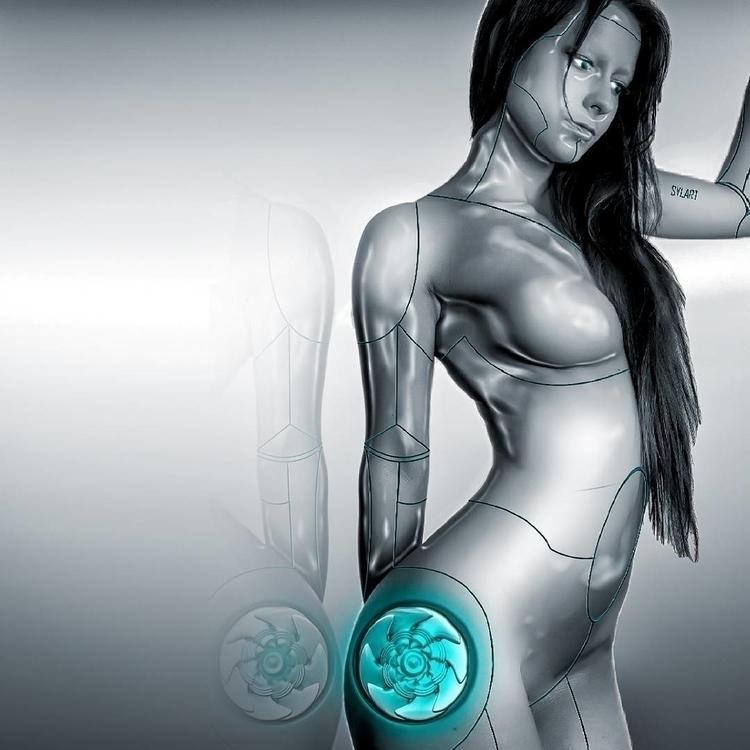 Cyborg - 3d, photography, #digitalart#drawing#art#drawing#acrylic#paint#collage - szilarkovacs | ello
