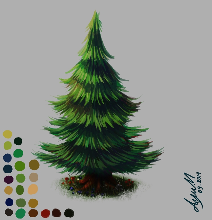 tree, illustration, painting - ayu-3119 | ello