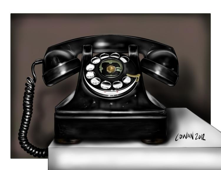 Telephone (rare realism piece - kcowan | ello