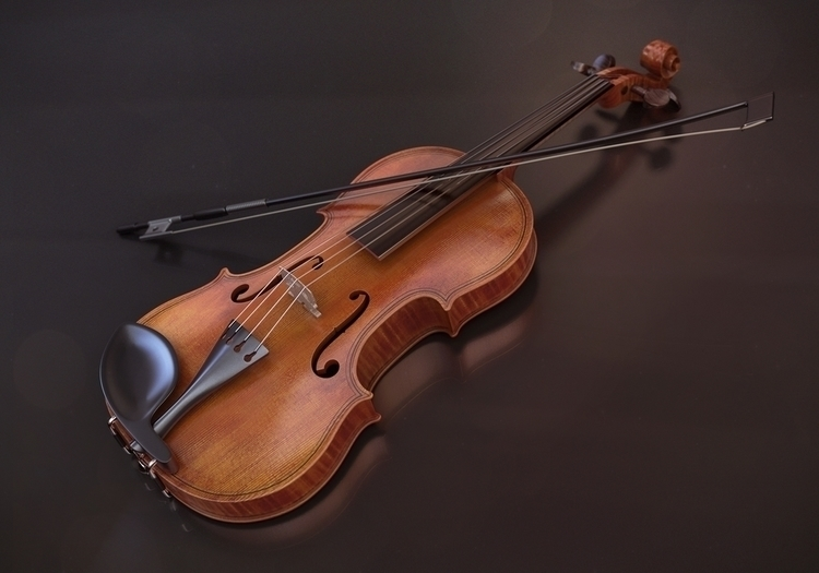 3D Violin - 3d, 3dart, violin, classical - femayer | ello