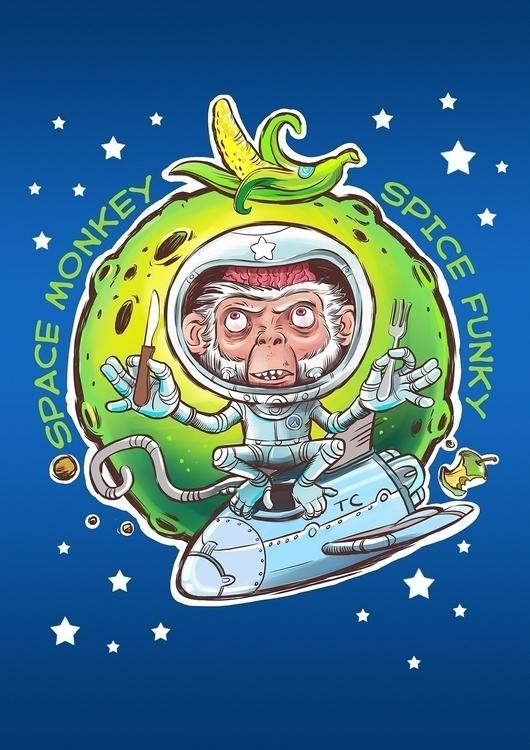 space monkey - geek, ufo, digitalart - sprut | ello