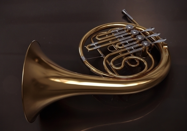 French Horn - 3d, 3dart, music, classical - femayer | ello