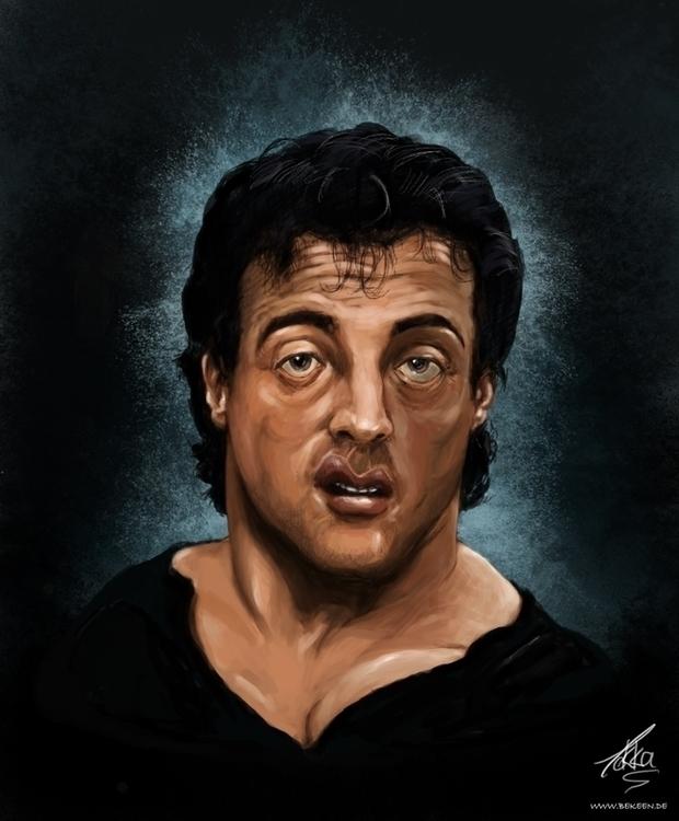 Sly Stallone - portrait, fanart - tokkatrain | ello