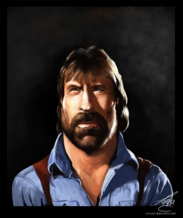 Chuck Norris - portrait, digitalpainting - tokkatrain | ello