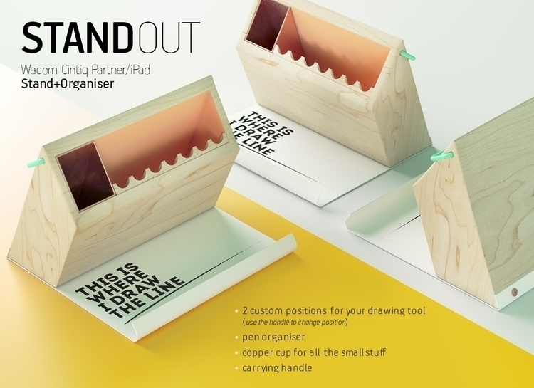 Tabletop stand 4 Wacom - wood, design - fungrafica | ello
