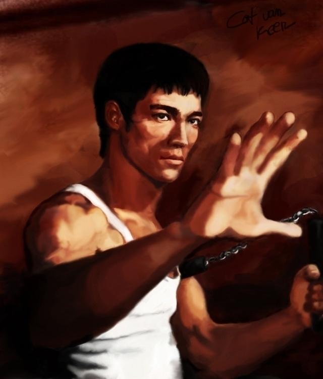 Bruce Lee stuff - digitalpainting - tokkatrain | ello