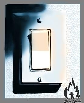 lightswitch, digitalart - amandaloyolla | ello