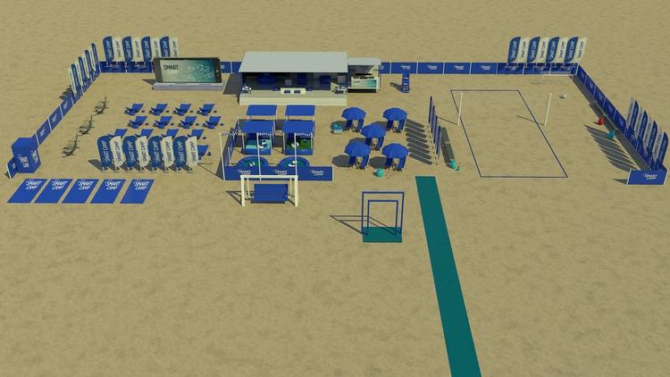 SAMSUNG - beach, cinema4d, 3d, visualization - lukaszkaziq | ello
