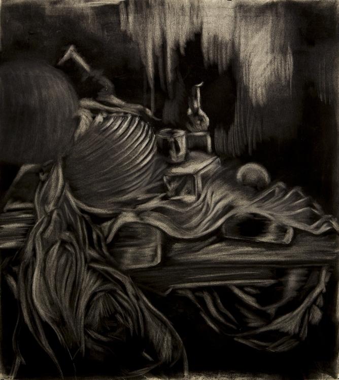 Ghost Room - charcoal, charcoaldrawing - aliziagonzalez | ello