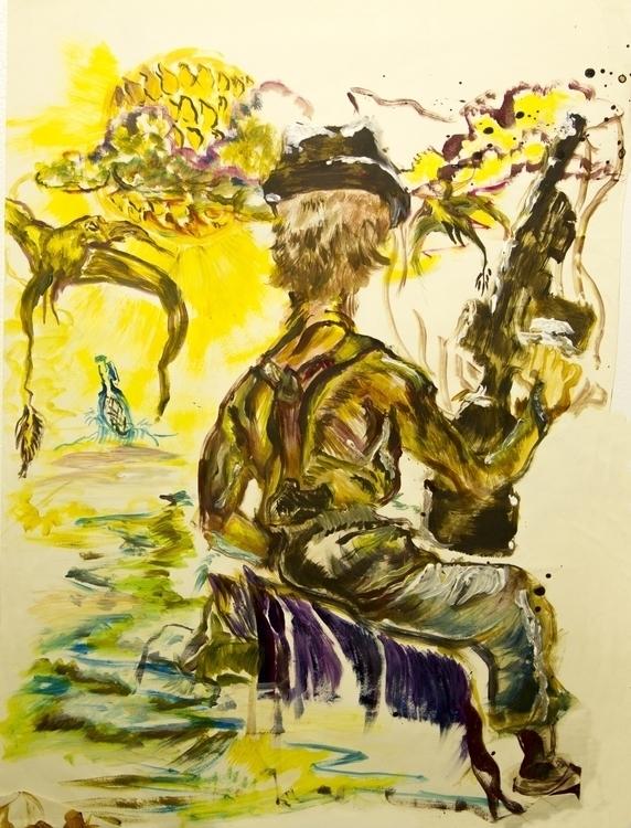 Dream Bottle - painting - aliziagonzalez | ello