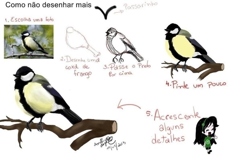 tutorial, bird, painting, digitalart - amandaloyolla | ello