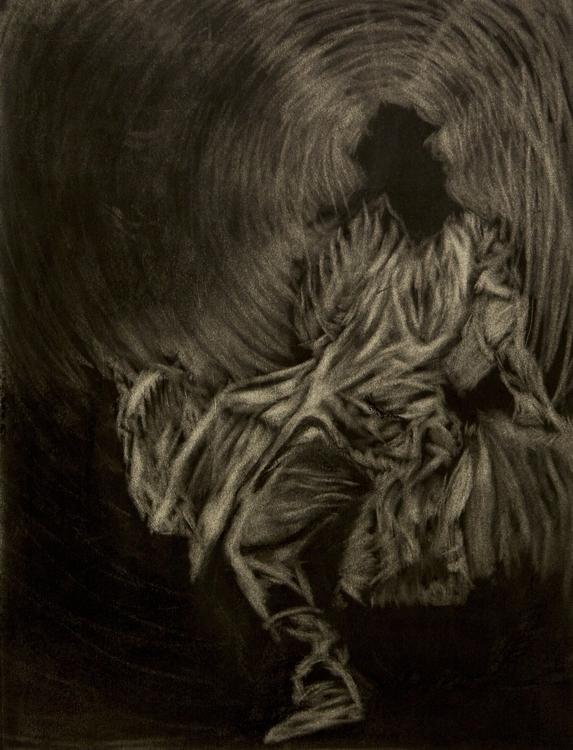 Death Sun - characterdesign, charcoal - aliziagonzalez | ello