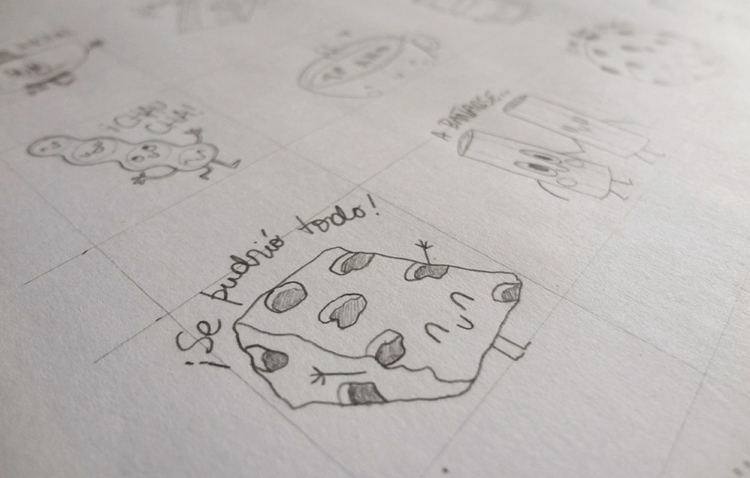 Food sketches 01 - food, characterdesign - federicobonifacini | ello