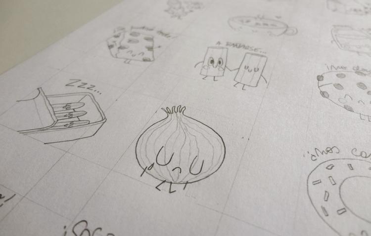 Food sketches 03 - onion, sketch - federicobonifacini | ello
