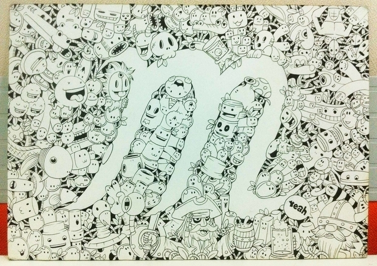 . doodle ~ random font pick - illustration - mmmdanielmmm | ello
