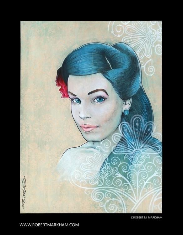 Blue - painting, characterdesign - robertmarkham | ello