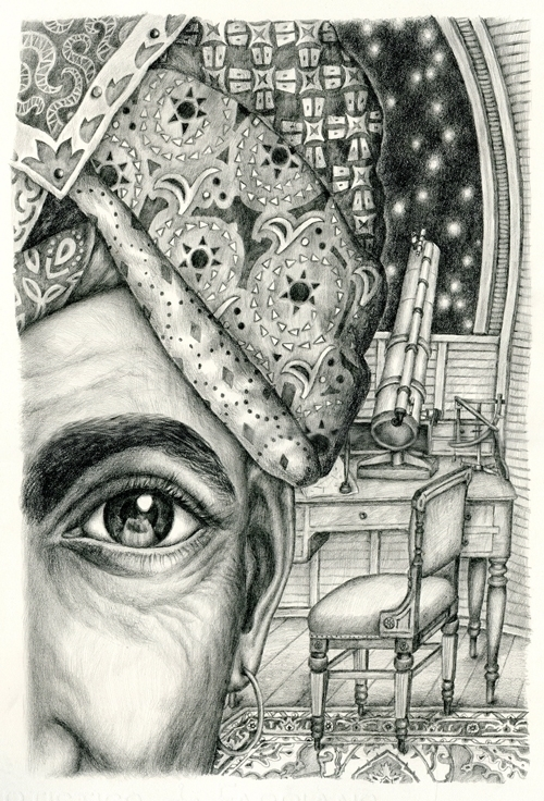 Gaze - illustration, drawing, graphite - gerdamartens | ello
