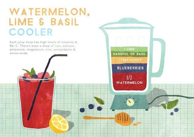 Watermelon, Lime Basil cooler f - rachael_guiver | ello