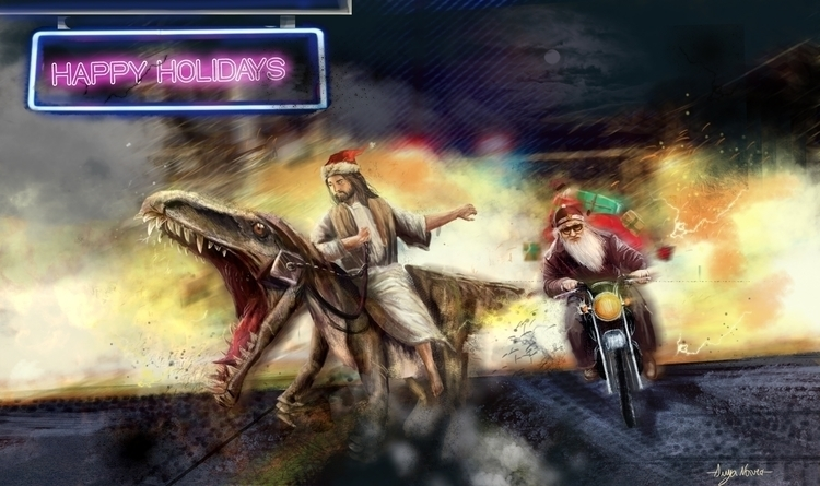 Illustration Happy Holidays, fu - anya-1295   ello