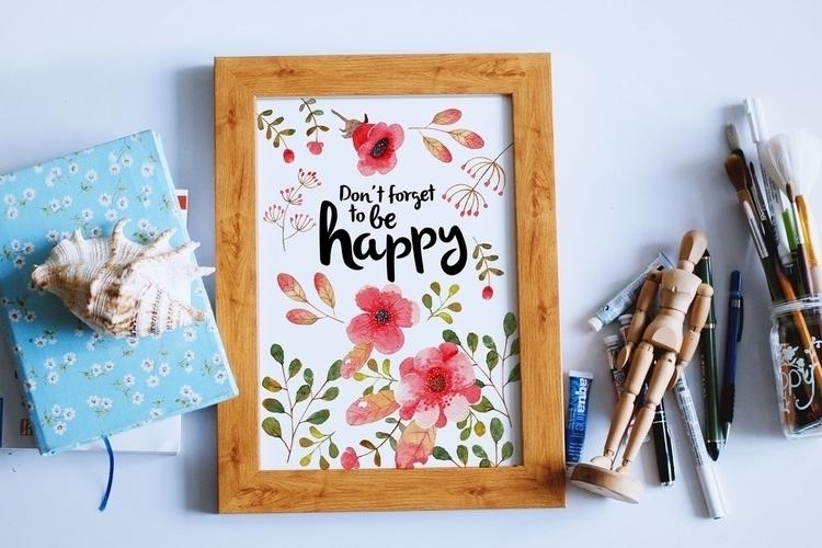 forget happy  - watercolor, print - judynguyen-5846 | ello