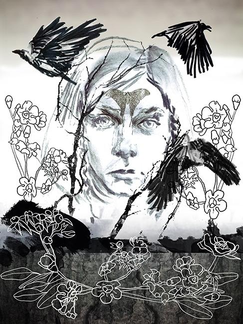 AURORA - Surreal girl illustrat - gretaberlin   ello