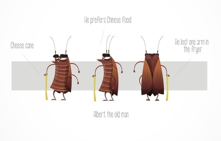 Cockroach 01 - cockroaches, illustration - federicobonifacini | ello