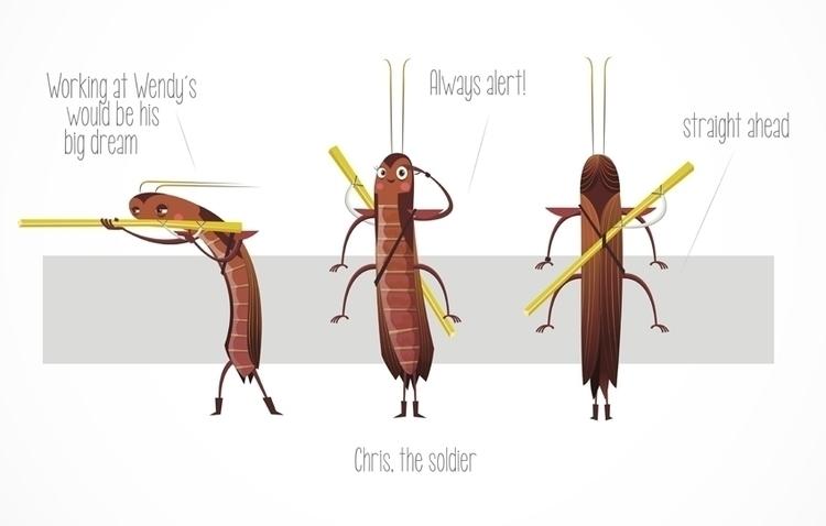 Cockroach 02 - cockroaches, illustration - federicobonifacini | ello