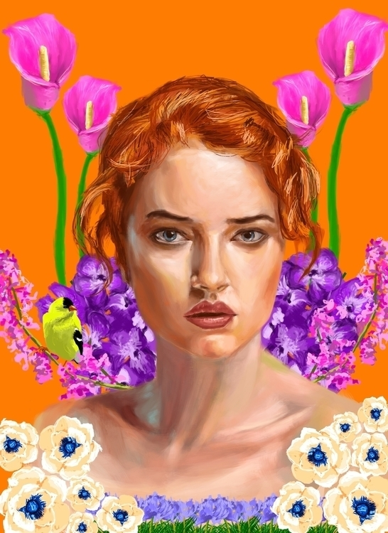 Flora - illustration, painting, drawing - dancelis | ello
